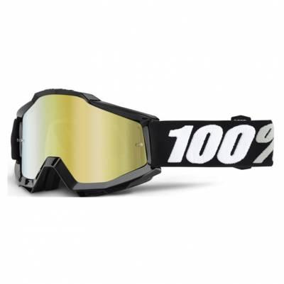 100% Crossbrille Accuri Tornado, Linse klar, schwarz