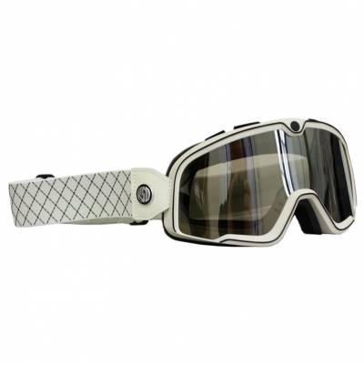 100% Crossbrille Barstow, beige-schwarz, silber-verspiegelt