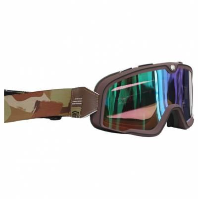 100% Crossbrille Barstow, dunkelbraun, grün-verspiegelt