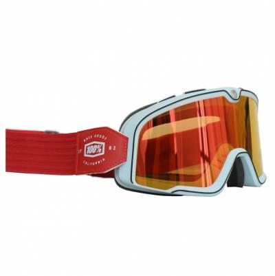 100% Crossbrille Barstow, hellblau-rot, rot-verspiegelt