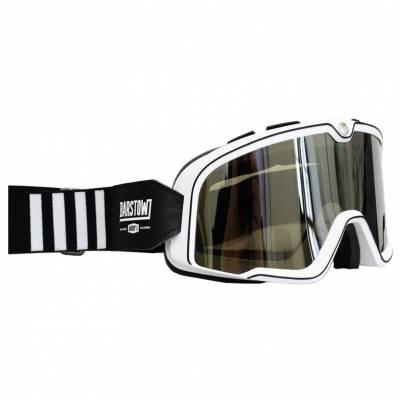 100% Crossbrille Barstow, weiß-schwarz, silber-verspiegelt