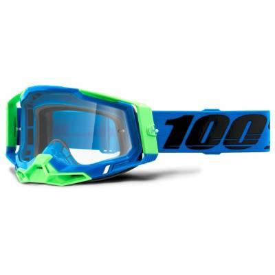 100% Crossbrille Racecraft 2, blau-grün, blau-verspiegelt