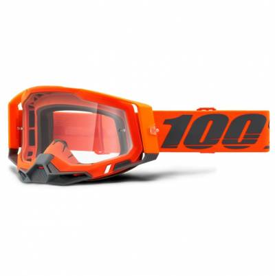 100% Crossbrille Racecraft 2, orange-grau, gold-verspiegelt