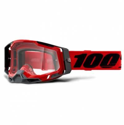 100% Crossbrille Racecraft 2, rot-schwarz, rot-verspiegelt