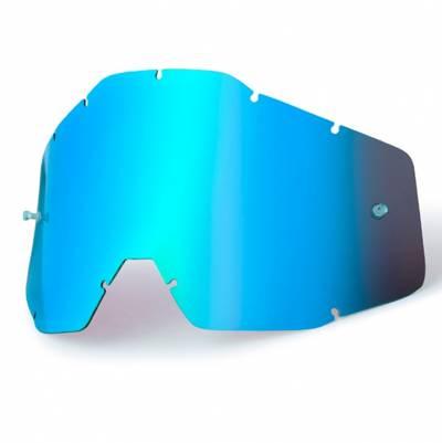 100% Ersatzglas für Strata/Accuri/Racecraft, blau verspiegelt