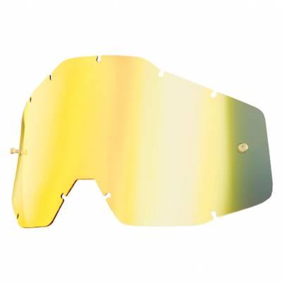 100% Ersatzglas für Strata/Accuri/Racecraft, gold verspiegelt