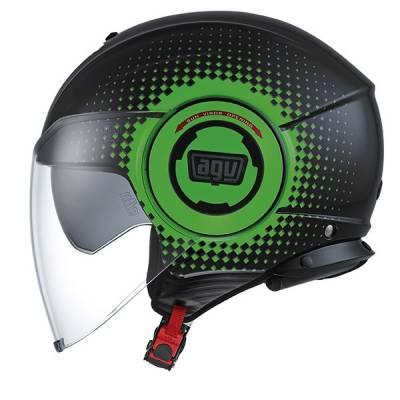 AGV Helm Fluid Multi Pix, schwarz-grün