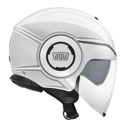 AGV Helm Fluid Multi Radius, weiß-silber
