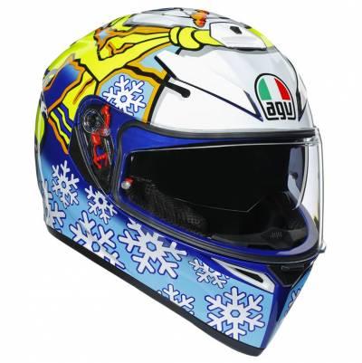 AGV Helm K-3 SV 5 Rossi Winter Test 2016, blau-weiß-gelb