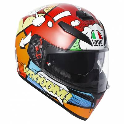 AGV Helm K-3 SV Balloon, rot-orange-weiß-blau