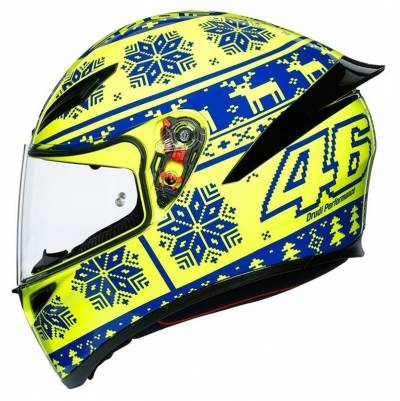 AGV Helm K1 Winter Test 2015, fluogelb-blau