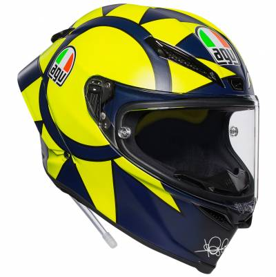 AGV Helm Pista GP R Soleluna 2018, blau-fluogelb