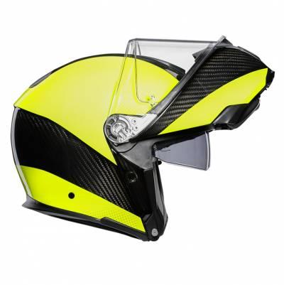AGV Helm Sportmodular Multi Hi Vis, carbon-fluogelb