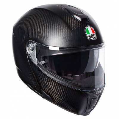 AGV Helm Sportmodular Refractive, carbon-silber matt