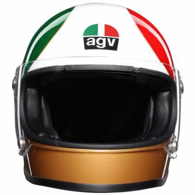 AGV Helm X3000 Limited Ago 1, grün-weiß-rot-gold