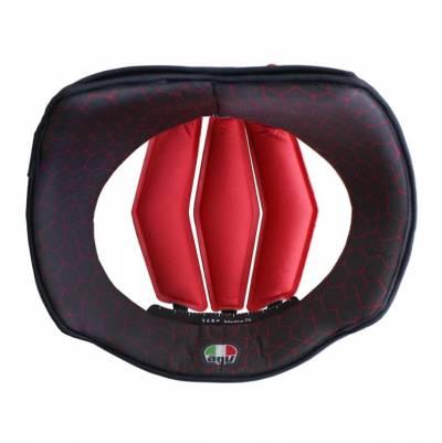 AGV Kopfpolster für Pista GP RR, schwarz-rot