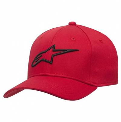 Alpinestars Cap Ageless Curve, rot-schwarz
