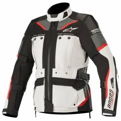 Alpinestars Damen Textiljacke Stella Andes Pro Drystar® (Tech-Air-e® kompatibel), grau-schwarz-rot
