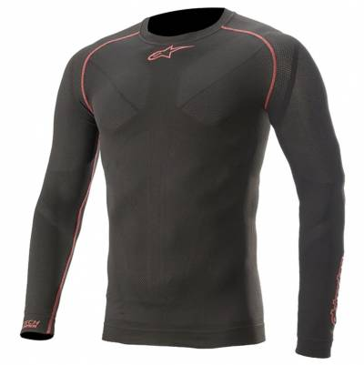 Alpinestars Funktionsshirt Ride Tech v2 Summer Long Sleeve, schwarz-rot