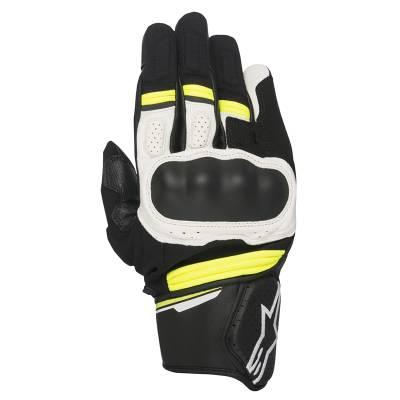 Alpinestars Handschuhe Booster, schwarz-weiß-fluogelb