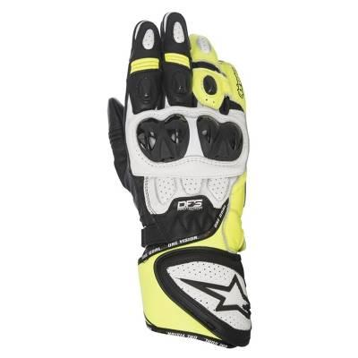Alpinestars Handschuhe GP Plus R, schwarz-weiß-gelb