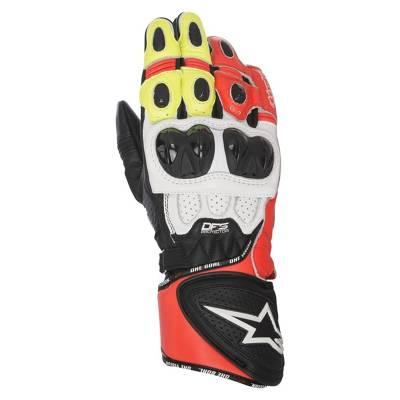 Alpinestars Handschuhe GP Plus R, schwarz-weiß-rot-gelb
