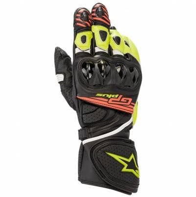Alpinestars Handschuhe GP Plus R2, schwarz-gelb-rot