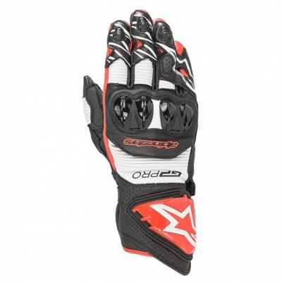 Alpinestars Handschuhe GP Pro R3, schwarz-weiß-hellrot