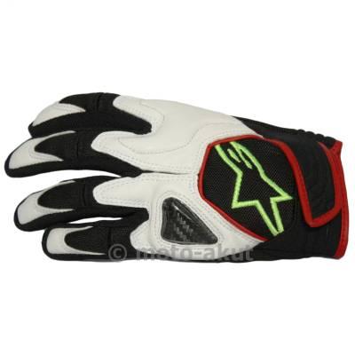 Alpinestars Handschuhe Scheme, schwarz-weiß-fluogelb