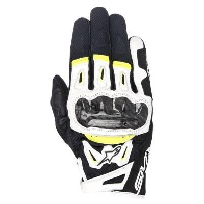 Alpinestars Handschuhe SMX-2 Air V2, schwarz-weiß-fluogelb