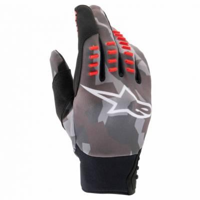 Alpinestars Handschuhe SMX-E, grau-camo-fluorot