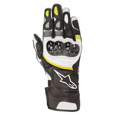 Alpinestars Handschuhe SP-2 V2, schwarz-weiß-fluogelb