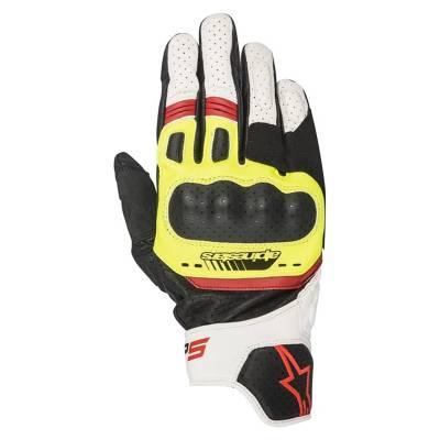 Alpinestars Handschuhe SP-5, schwarz-gelb-weiß-rot