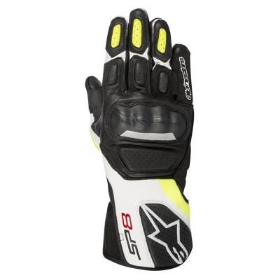 Alpinestars Handschuhe SP-8 V2, schwarz-weiß-fluogelb