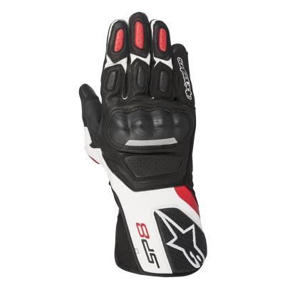 Alpinestars Handschuhe SP-8 V2, schwarz-weiß-rot