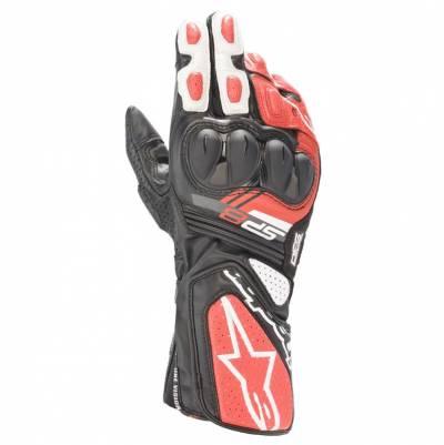 Alpinestars Handschuhe SP-8 v3, schwarz-weiß-hellrot