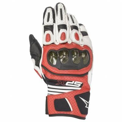 Alpinestars Handschuhe SP X Air Carbon v2, weiß-schwarz-hellrot