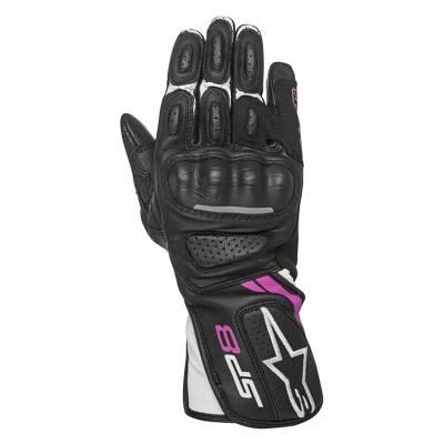 Alpinestars Handschuhe Stella SP-8 V, schwarz-weiß-fuchsia