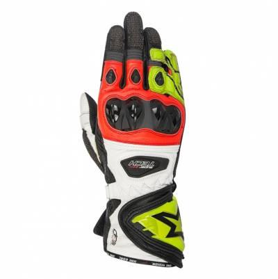 Alpinestars Handschuhe Supertech, schwarz-gelb-fluorot