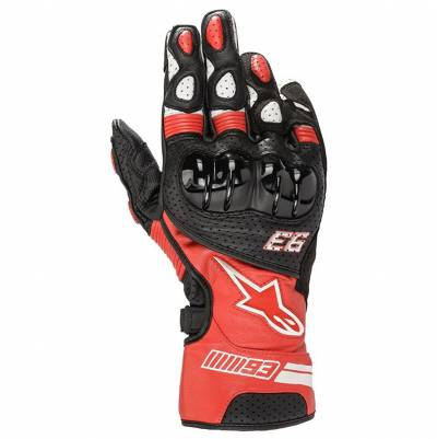 Alpinestars Handschuhe Twin Ring MM93, rot-schwarz-weiß