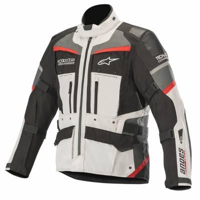 Alpinestars Herren Textiljacke Andes Pro Drystar® (Tech-Air-e® kompatibel), grau-schwarz-rot