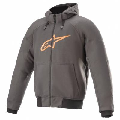 Alpinestars Hoodie Chrome Sport, grau-orange