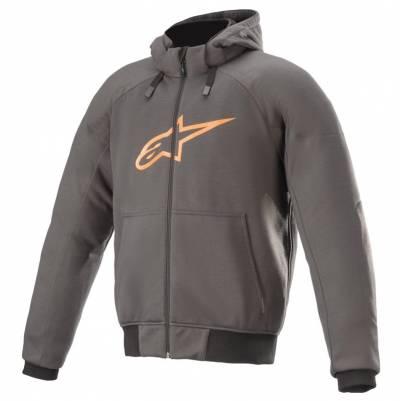 Alpinestars Hoodie Chrome Sport, grau-orange