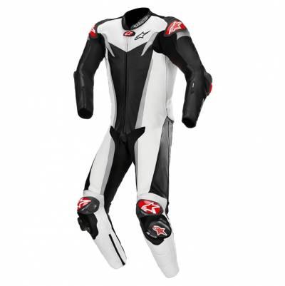 Alpinestars Kombi GP-Tech v3 Einteiler (Tech-Air-e® kompatibel), schwarz-weiß-silber