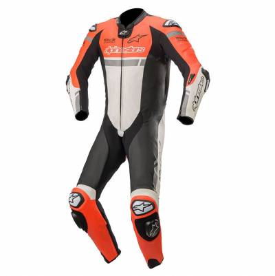 Alpinestars Kombi Missile Ignition (Tech-Air-e® kompatibel), fluorot-weiß-schwarz