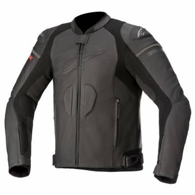 Alpinestars Lederjacke GP Plus R v3 Rideknit, schwarz-schwarz