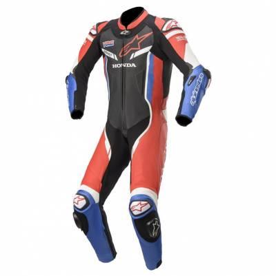 Alpinestars Lederkombi GP Pro V2 Honda Einteiler (Tech-Air-e® kompatibel), schwarz-rot-blau