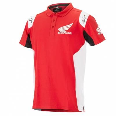 Alpinestars Poloshirt Honda, rot-weiß