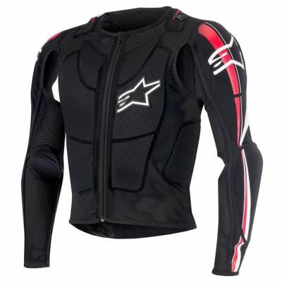 Alpinestars Protektorjacke Bionic Plus Jacket, schwarz-rot-weiß