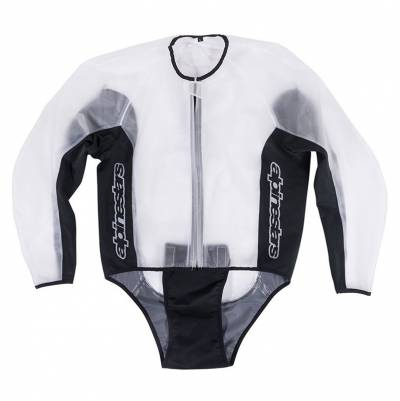 Alpinestars Regenjacke Racing, transparent-schwarz